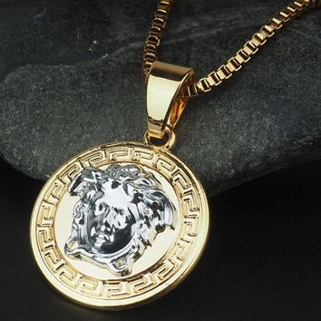8DESS Versace Woman Men Fashion Necklace Jewelry