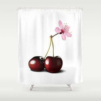 Cherry Blossom, In Memory of Mackenzie Shower Curtain by Rob Snow