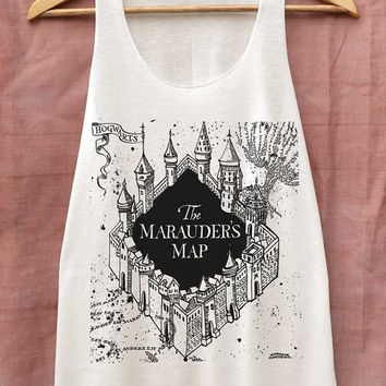 The Marauder's Map Shirt Harry Potter Shirts Tank Top Women Size S M L