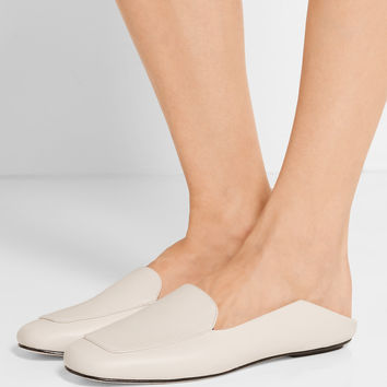 Tibi - Cecil leather slippers