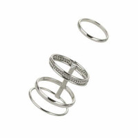 Caged Ring Pack - Silver