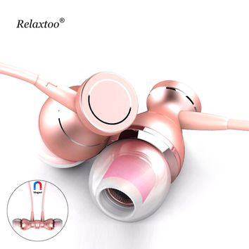 3.5mm Magnetic Earphone Headset In-line Control Clarity Stereo In-Ear Sound Earphones For iPhone Mobile Phone MP3 MP4 With Mic
