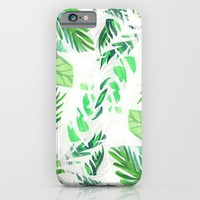 Leaf tropical pattern iPhone & iPod Case by Vasare Nar | Society6