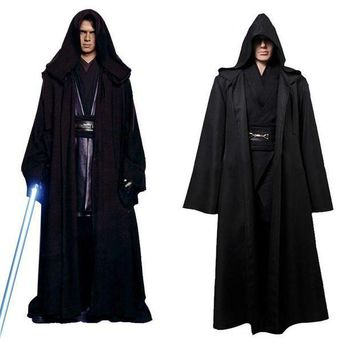 ac PEAPO2Q Takerlama Unisex Halloween Star Wars Jedi/Sith Knight Cloak Cosplay Adult/Kids Hooded Robe Cloak Cape Halloween Cosplay Costume