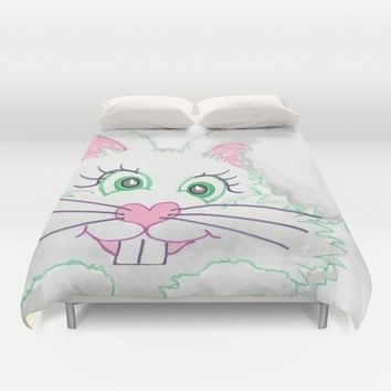 Funny Bunny Bed and Bath Duvet Cover by Zurine