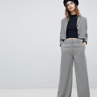 Unique 21 Wide Leg PANTS In Houndstooth Co-Ord at asos.com