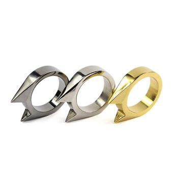 1 Piece men women Cool Cat Ear Self Finger Ring Outdoor Tool jewelry