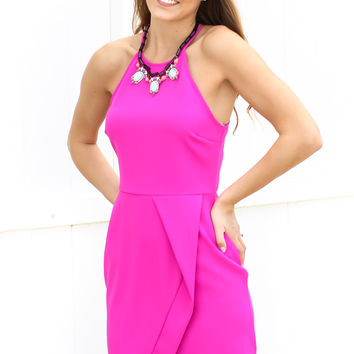 Smitten For You Dress - Fuchsia
