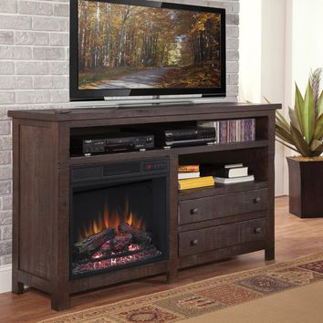 Tahoe Casual 60 Inch Console/Fireplace Rustic Mesquite Pine
