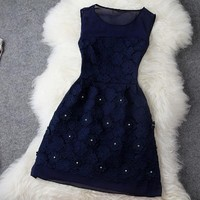 Water soluble flowers set auger dress