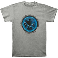 S.H.I.E.L.D. Men's  Agents Of S.H.I.E.L.D. Slim Fit T-shirt Heather