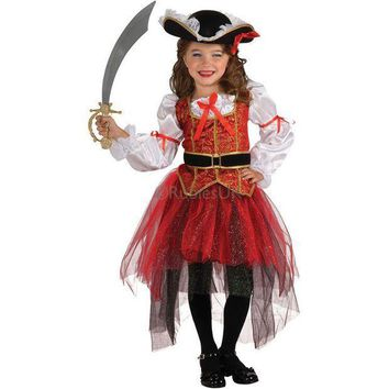 PEAPON Pirates costume Best Selling Party Supplies Pirate  Cosplay girl Clothing Halloween Costume For Kids Children Christmas Costume