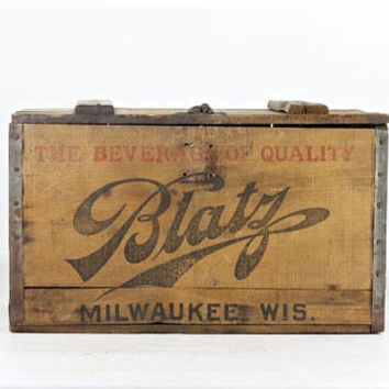 Vintage Beer Crate Vintage Blatz Beer Wood Crate 1927 Blatz Beer Wood Crate Blatz Beer Wood Box Old Beer Crate Prohibition Beer Crate