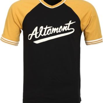 Altamont Kennet Jersey T-Shirt - black/gold - Free Shipping