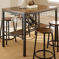 Steve Silver Rebecca Wine Storage Counter Height Dining Table - Handpainted Metal | www.hayneedle.com