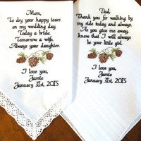 Set of 2 Wedding Favors Thank you Gift Pine cone Wedding Rustic Wedding Day Gift By Canyon Embroidery