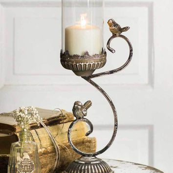 Victorian Songbird Pillar Holder