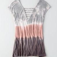 AEO Soft & Sexy Double Bar T-Shirt, Multi