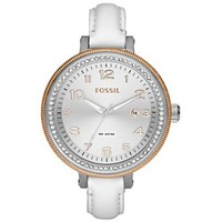 Fossil AM4362 Bridgette Leather  White Watch