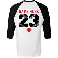 Trendy Baseball Girlfriend Raglan from Customized Girl