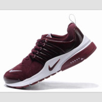 NIKE new lightweight casual shoes sports shoes Wine red white