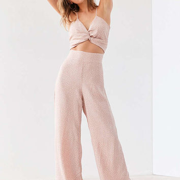 Flynn Skye Emily Knot-Front Jumpsuit - Urban Outfitters
