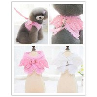Wings With Pearls Dog Harness Leash Vest  Pet Clothes Coat