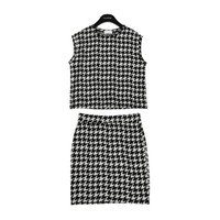 Houndstooth Top and Mini Skirt