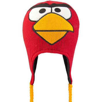 Angry Birds - Red Bird Big Face Peruvian Knit Hat