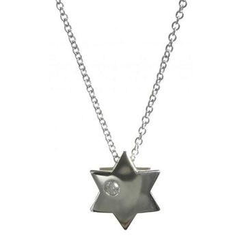Star Necklace With Diamond