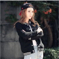 Casual Fleece Baseball Coat B0014303