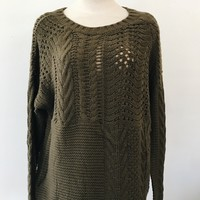 ADALINE CHUNKY KNIT- OLIVE