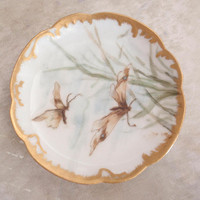 Haviland France Butter Pat Ring Tray Pin Dish Butterfly Vintage 082517CM