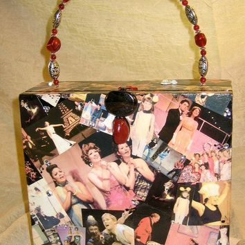 Cigar Box Purse Personalized Decoupaged by handartdesignstudios