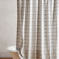 Geo-Block Shower Curtain by Anthropologie Multi One Size Bedding