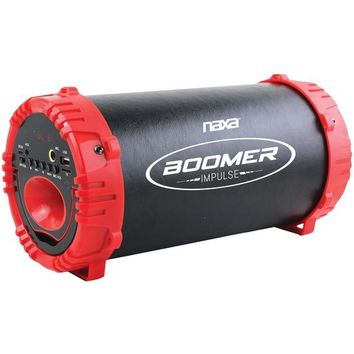 Naxa(R) NAS-3084 RED BOOMER IMPULSE LED Bluetooth(R) Boom Box (Red)