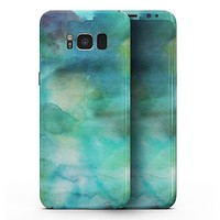 Green 979 Absorbed Watercolor Texture - Samsung Galaxy S8 Full-Body Skin Kit