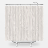 Faux Wood Shower Curtain
