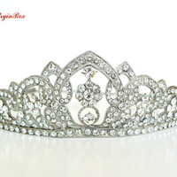 Crown with White Swarovski Crystals, Bridal Accessories