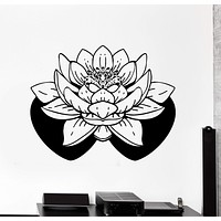 Wall Vinyl Decal Buddha Meditation Yoga Lotus Home Interior Decor Unique Gift z4124