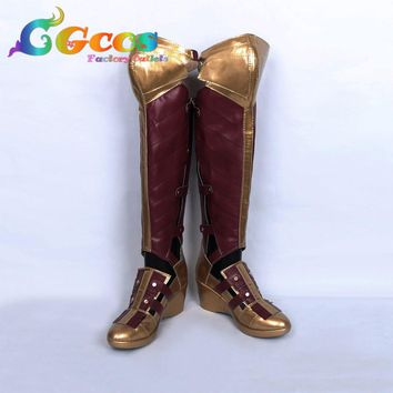 Free Shipping Cos Cosplay Shoes Wonder Woman Diana Prince Shoes Boots Halloween Christmas Party