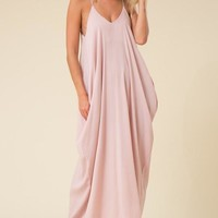 Full-Length Harem Maxi Dress with Pockets