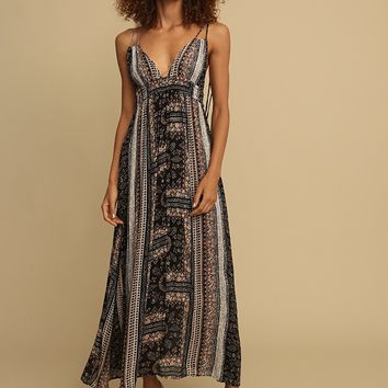 Seal Beach Printed Maxi Dress | Threadsence