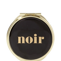 FOREVER 21 Noir Compact Mirror Black/Gold One