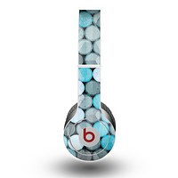 The Vintage Scratched Blue & Graytone Polka Skin for the Beats by Dre Original Solo-Solo HD Headphones