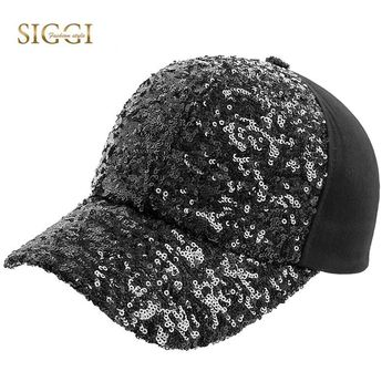 Trendy Winter Jacket SIGGI Women Baseball Cap Sequin Mom Hat Cotton Snapback Adjustable Strap Comfortable Bling Visor Gorras Casual 2018 New 69343 AT_92_12