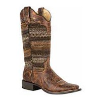 """Womens Avril 12"""" Cowgirl Boots Roper ( - Womens Boots - Womens Cowboys Boots)"""