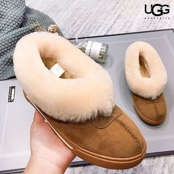 UGG Autumn And Winter Fashion New Fur Keep Warm Boost Shoes Women