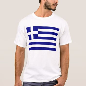 T Shirt with Flag of Greece