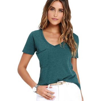 Green Summer Pocket T-Shirt Sale LAVELIQ